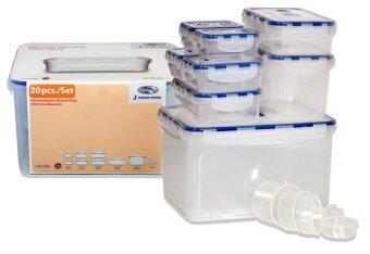 Superlock 100% Air-Tight food container model 6118/20pcs (clear)