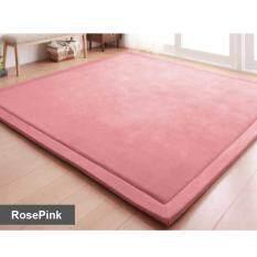 Sweet Home Extra LARGE Japanese Carpet Tatami Floor Mat Rug Velvet Soft For Kids And Family Bedroom Living Room Rose Pink