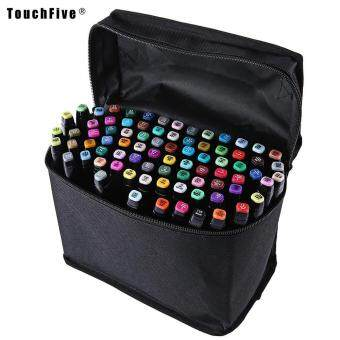 Touch Five Colors Graphic Art Twin Tip Marker Pen color:Blacksize:40pcs