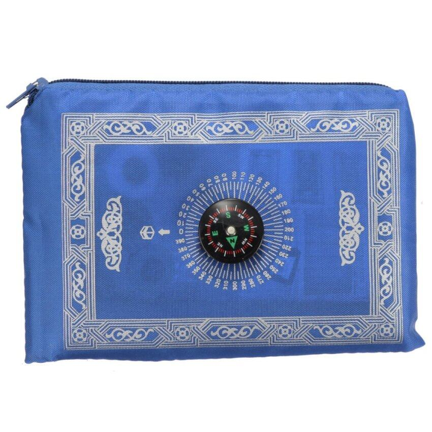Prayer Rug Types: Pocket Prayer Mat With Compass / Sejadah Polyster (Green