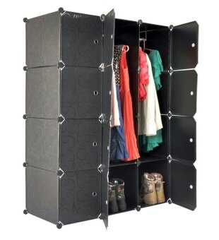 Tupper Cabinet 12 Cubes Black Stripes DIY Wardrobe