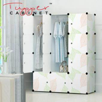 Tupper Cabinet 12 Cubes DIY Wardrobe- Leaf Design