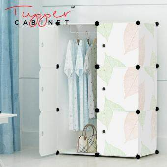 Tupper Cabinet 6 Cubes DIY Wardrobe- Leaf Design