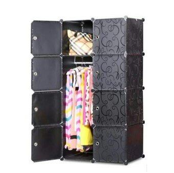 Tupper Cabinet 8 Cubes Black Stripes DIY Wardrobe