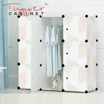 Tupper Cabinet 9 Cubes DIY Wardrobe- Leaf Design