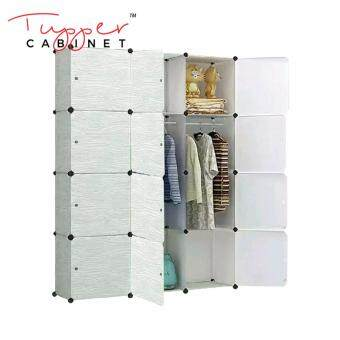 Tupper Cabinet DIY 12 Cubes Wardrobe Creamy Wood Design