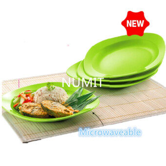 Tupperware NEW Blossom Microwaveable (FREE SHIPPING) 4 x Deep Plates - NUMIT