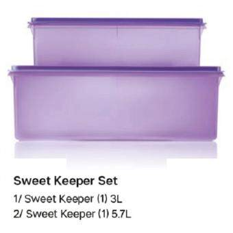 TUPPERWARE SWEET KEEPER Twin Set Food Storage Container