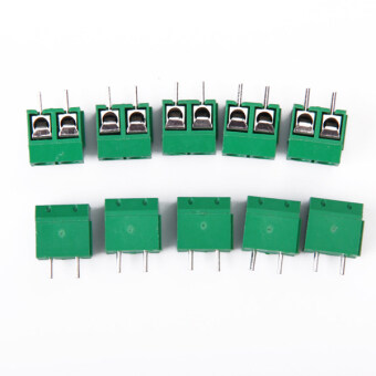 Two-Pin PCB Mount Terminal Block Connector Pitch 10 Pcs
