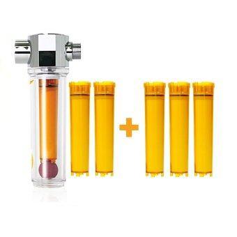 vitafresh shower filter vitamin c inline shower filter with filter cartridge. Black Bedroom Furniture Sets. Home Design Ideas