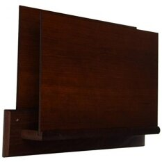 Wooden Mallet Square Mount Open End File Holder, HIPAA Compliant, Letter  Size, Mahogany
