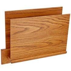 Wooden Mallet Square Mount Open End File Holder, HIPAA Compliant, Letter  Size, Medium Oak