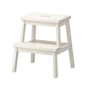 Wooden Step Stool Chair 2 Steps White Lazada Malaysia