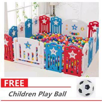 18 Panels Big Size Baby Playyard Safety Rail Play Yard Baby Fence Crawling Children Safety Removable Rails Playpen 009008 Free Children Play Ball