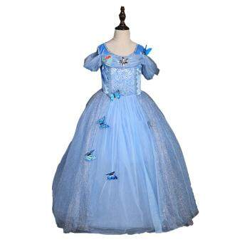 2017 girls party dress princess dress girls birthday dress for 3-9Y