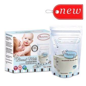 2x Autumnz Double ZipLock Breastmilk Storage Bag 7oz