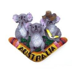 3d australia koala wood fridge magnet home decoration craft souvenir collection