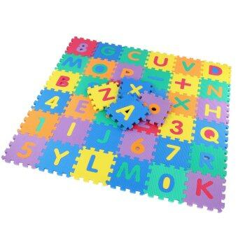 Acecharming Soft Multicolors Jigsaw Play Mat Alphabet Number Puzzle Floor For Kids Children Baby