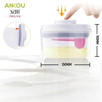 Ankou Air Tight Container 600ml(CIRCLE) / Specially Made For Formula Milk / Baby Food Storage / Herbal Storage
