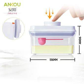 Ankou Air Tight Container 700ml(RECTANGLE) / Specially Made For Formula Milk / Baby Food Storage / Herbal Storage