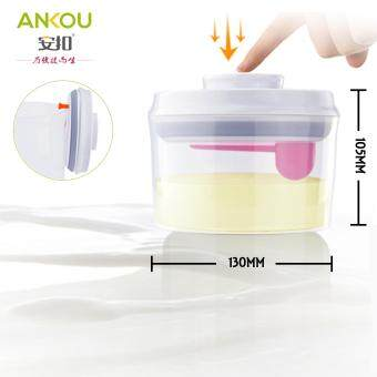 Ankou Air Tight Container 800ml(CIRCLE) / Specially Made For Formula Milk / Baby Food Storage / Herbal Storage
