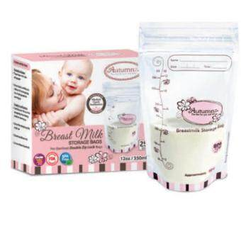 Autumnz Double Ziplock Breastmilk Storage Bag (12oz)