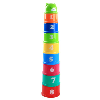Baby early childhood layer stacked Yi intelligence 1-4 years old of cup