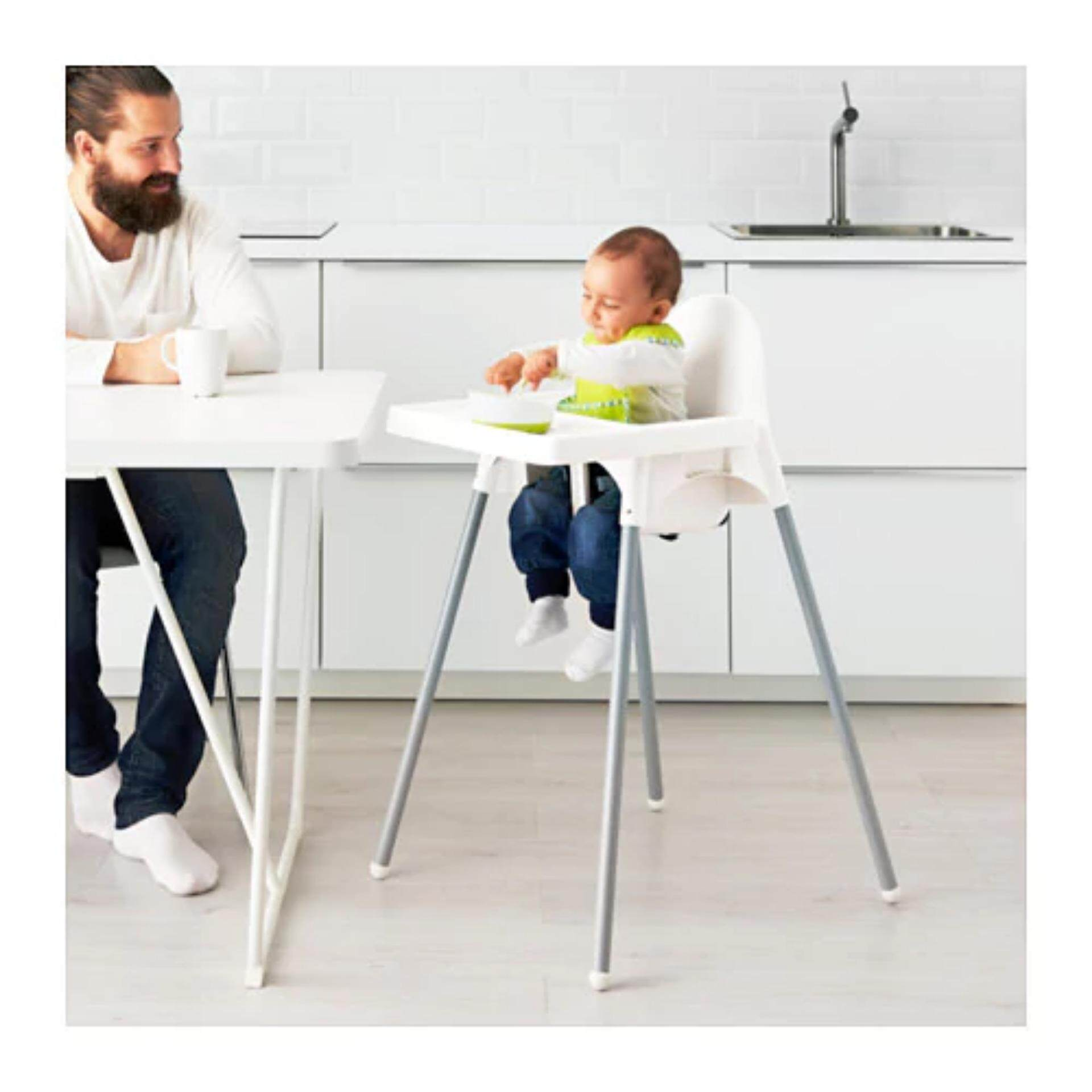 Baby eating chair attached to table - Baby High Chair With Table And Safety Belt Dining Eating Feeding