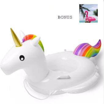 Baby Swimming Ring Unicorn Seat Inflatable Unicorn Pool Float Baby Summer Water Fun Pool Toy Kids Swimming float