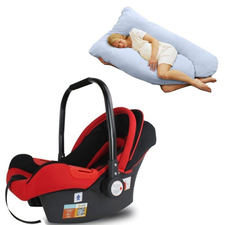 baby head and body support pillow for car seat and stroller khaki lazada malaysia. Black Bedroom Furniture Sets. Home Design Ideas