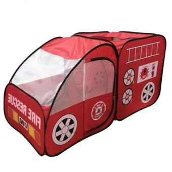 BolehDeals Kids Childrens Playhouse Indoor Outdoor Pop Up FireTruck Car Play Tent Toy
