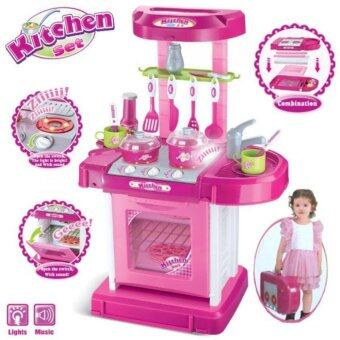 Children Portable Kitchen Toy Playset Educational Toys - Pink Set