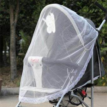 Cute Infants Baby Stroller Pushchair Buggy Mosquito InsectProtector Net Mesh