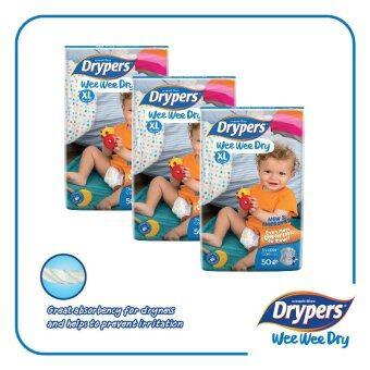 Drypers Wee Wee Dry XL50 x 3 packs (150pcs)