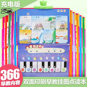 ENLIGHTEN full set children's sound making pinyin cognitive card with sound hanging picture