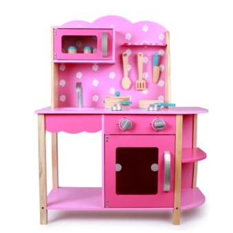 Female baby toys wooden simulation kitchen over every family tableware