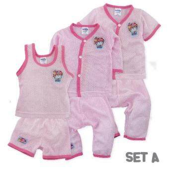 FIFFY 3 In 1 Eyelet Baby Suit (Set A)
