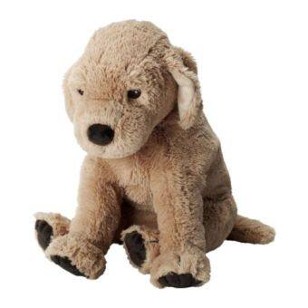 IKEA Old West princess board purchasing small brown dog plush toy