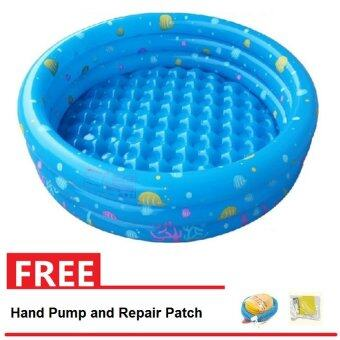 Intime Inflatable Round Swimming Pool 150x42CM (Blue) + Hand Pump and Repair Patch