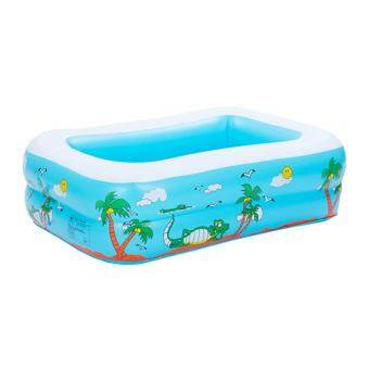 jingot Babies Inflatable Swim Pool PVC Paddling Pools For Kids,Blue Square