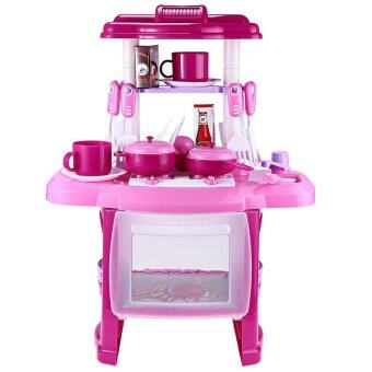 Kids kitchen cooking toy set for role play pink lazada for Kitchen set for 7 year old