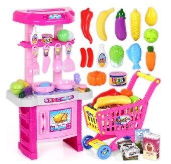 Kids kitchen play set pink lazada malaysia for Kitchen set lazada