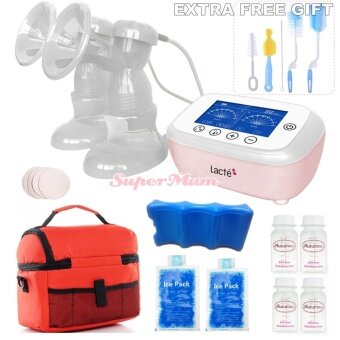 Lacte Duet Elite Rechargeable Electric BreastPump Value Package