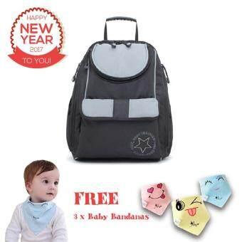 large capacity multifunctional baby diaper bag mummy backpack grey buy 1 ge. Black Bedroom Furniture Sets. Home Design Ideas