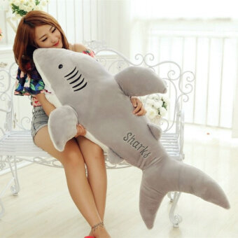 Large White Shark VISHARK large doll pillow