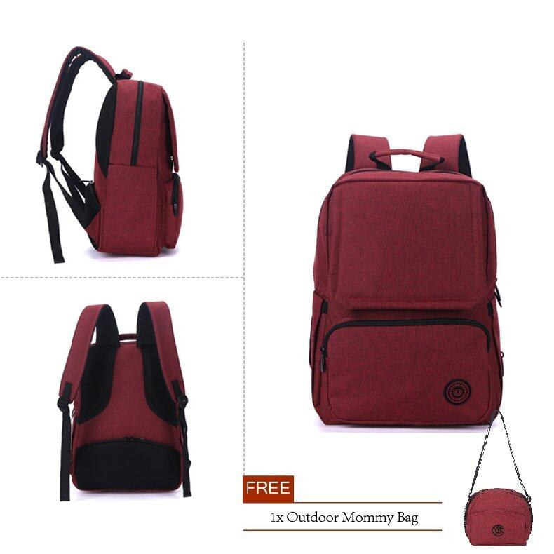 gte 5 in 1 multifunction tote baby shoulder diaper bags red lazada malaysia. Black Bedroom Furniture Sets. Home Design Ideas