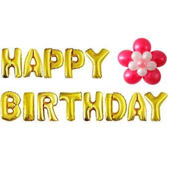 Letter Happy Birthday Balloon Aluminum Foil Balloons for Birthday Party Decoration(GOLD)