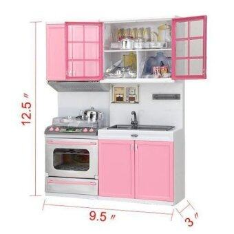 Mini Childrens Kitchen Pretend Play Cooking Set Cabinet Stove Toy ...