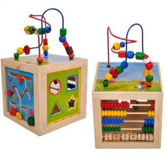 NaVa Children Montessori Early Development Wooden Multi Sides Learning Beads