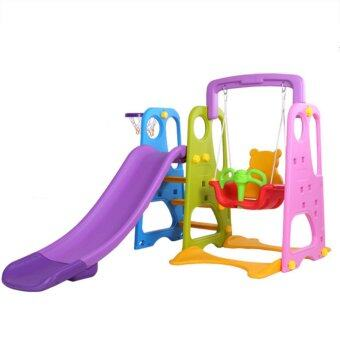 NaVa DIY Children Slide and Swing with Basketball net for Indoor and Outdoor